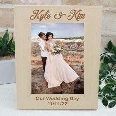 Wedding Engraved Wooden Photo Frame