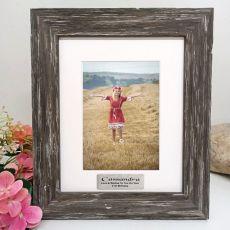 21st Birthday Personalised Photo Frame Hamptons Brown 5x7