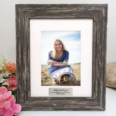 50th Birthday Personalised Photo Frame Hamptons Brown 5x7