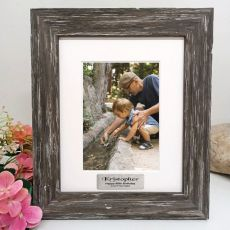80th Birthday Personalised Photo Frame Hamptons Brown 5x7