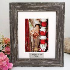 Anniversary Personalised Photo Frame Hamptons Brown 5x7