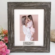 Aunty Personalised Photo Frame Hamptons Brown 5x7