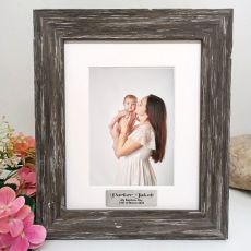 Baptism Day Personalised Photo Frame Hamptons Brown 5x7