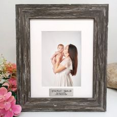Naming Day Personalised Photo Frame Hamptons Brown 5x7