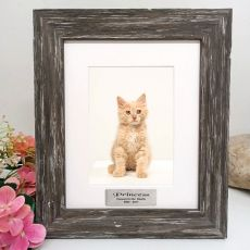 Pet Memorial Personalised Photo Frame Hamptons Brown 5x7