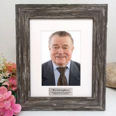 Retirement Personalised Photo Frame Hamptons Brown 5x7