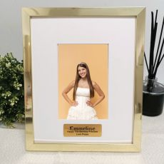13th Birthday  Personalised Photo Frame 4x6 Gold