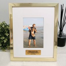1st Birthday Personalised Photo Frame 4x6 Gold