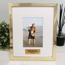 1st Birthday Personalised Photo Frame 4x6 Gold