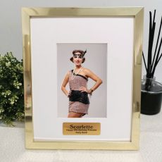 50th Birthday Personalised Photo Frame 4x6 Gold