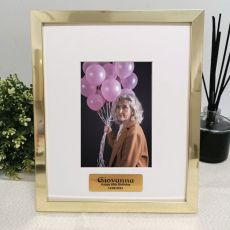 60th Birthday Personalised Photo Frame 4x6 Gold