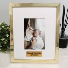 Baptism Personalised Photo Frame 4x6 Gold