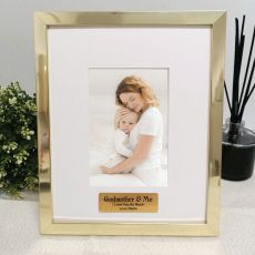 Godmother Personalised Photo Frame 4x6 Gold