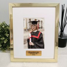 Graduation Personalised Photo Frame 4x6 Gold
