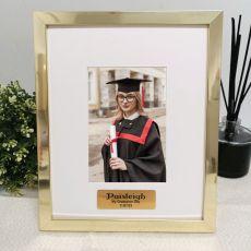 Graduation Personalised Photo Frame 4x6 Gold