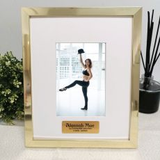 Memorial Personalised Photo Frame 4x6 Gold