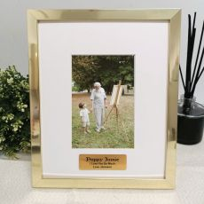 Pop Personalised Photo Frame 4x6 Gold