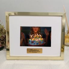 18th Birthday Personalised Photo Frame 5x7 Gold