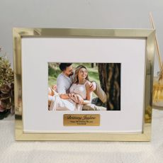 50th Birthday Personalised Photo Frame 5x7 Gold