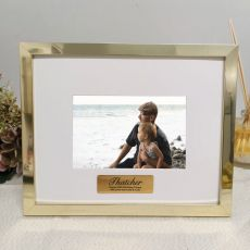 60th Birthday Personalised Photo Frame 5x7 Gold