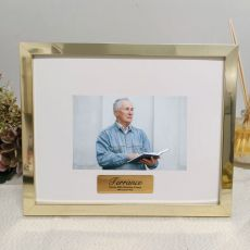 80th Birthday Personalised Photo Frame 5x7 Gold