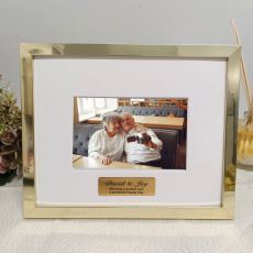 Anniversary Personalised Photo Frame 5x7 Gold