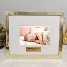 Baptised Personalised Photo Frame 5x7 Gold