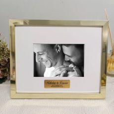 Engagement Personalised Photo Frame 5x7 Gold