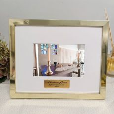 Communion Personalised Photo Frame 5x7 Gold
