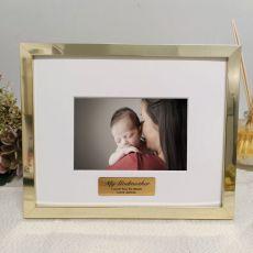 Godmother Personalised Photo Frame 5x7 Gold