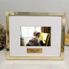 Nan Personalised Photo Frame 5x7 Gold