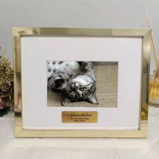 Pet Memorial  Personalised Photo Frame 5x7 Gold
