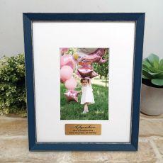 Personalised 1st Birthday Photo Frame Amalfi Navy 4x6