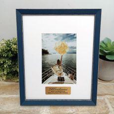 Personalised 40th Birthday Photo Frame Amalfi Navy 4x6