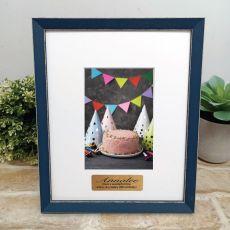 Personalised 50th Birthday Photo Frame Amalfi Navy 4x6