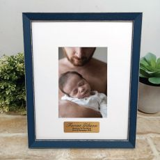 Personalised  Baby Photo Frame Amalfi Navy 4x6