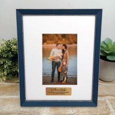 Personalised Dad Photo Frame Amalfi Navy 4x6