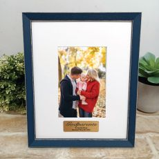 Personalised Godparent Photo Frame Amalfi Navy 4x6