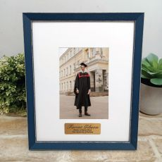 Personalised Graduation Photo Frame Amalfi Navy 4x6