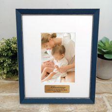 Personalised Mum Photo Frame Amalfi Navy 4x6