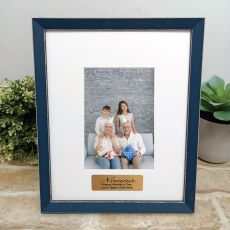 Personalised Nana Photo Frame Amalfi Navy 4x6