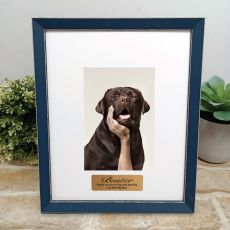 Personalised Pet Memorial Photo Frame Amalfi Navy 4x6