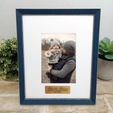 Personalised Uncle Photo Frame Amalfi Navy 4x6
