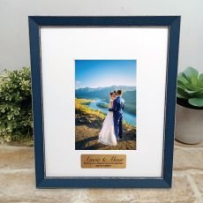 Personalised Wedding Photo Frame Amalfi Navy 4x6