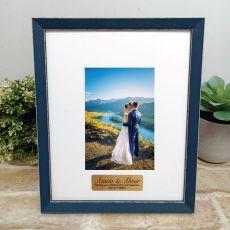 Personalised Wedding Photo Frame Amalfi Navy 4x6