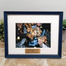 Personalised 50th Birthday Photo Frame Amalfi Navy 5x7