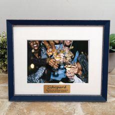Personalised 50th Birthday Photo Frame Amalfi Navy 5x7