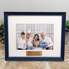 Personalised 60th Birthday Photo Frame Amalfi Navy 5x7