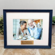 Personalised 80th Birthday Photo Frame Amalfi Navy 5x7