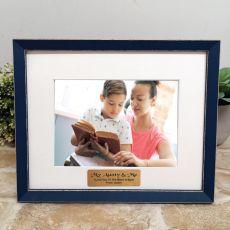 Personalised  Aunty Photo Frame Amalfi Navy 5x7